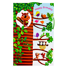 Buy Paper Rose Tree House Birthday Card Online at johnlewis.com