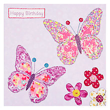 Buy Pigment Two Butterflies Birthday Card Online at johnlewis.com