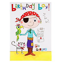 Buy Rachel Ellen Wibbly Wobbly Lane Pip Pirate Birthday Card Online at johnlewis.com