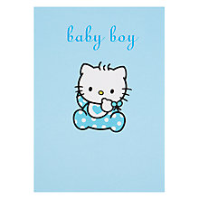 Buy Hype Hello Kitty Baby Boy Greeting Card Online at johnlewis.com