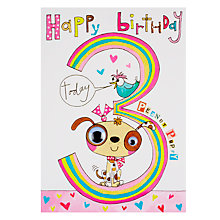 Buy Rachel Ellen Wibbly Wobbly Lane Peanut Puppy 3rd Birthday Card Online at johnlewis.com