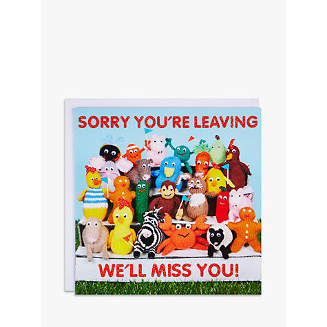 Buy Mint Sorry You're Leaving Greeting Card Online at johnlewis.com