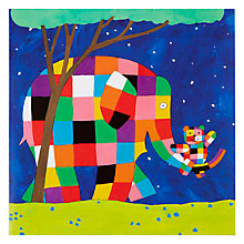 Buy Hype Elmer Under Tree With Teddy Birthday Card Online at johnlewis.com