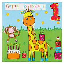 Buy Twizler Giraffe 1st Birthday Card Online at johnlewis.com