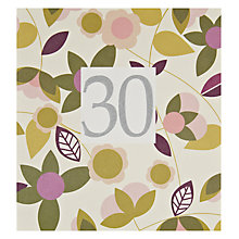 Buy Caroline Gardner 30th Birthday Card Online at johnlewis.com