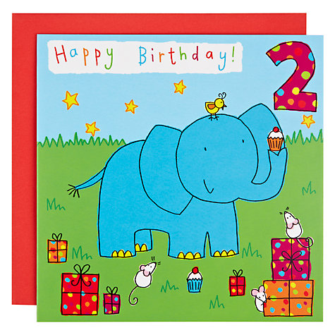 Buy Twizler Elephant 2nd Birthday Card Online at johnlewis.com