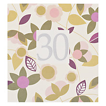 Buy Caroline Gardner 50th Floral Birthday Card Online at johnlewis.com