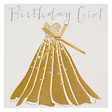 Buy Belly Button Birthday Girl Birthday Card Online at johnlewis.com