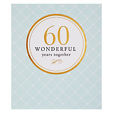 Buy Pigment 60 Wonderful Years Anniversary Card Online at johnlewis.com