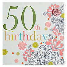 Buy Laura Darrington 50th Birthday Card Online at johnlewis.com