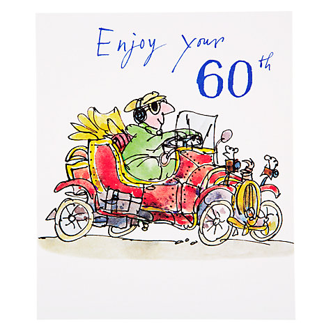 Buy Woodmansterne Vintage Car 60th Birthday Card Online at johnlewis.com