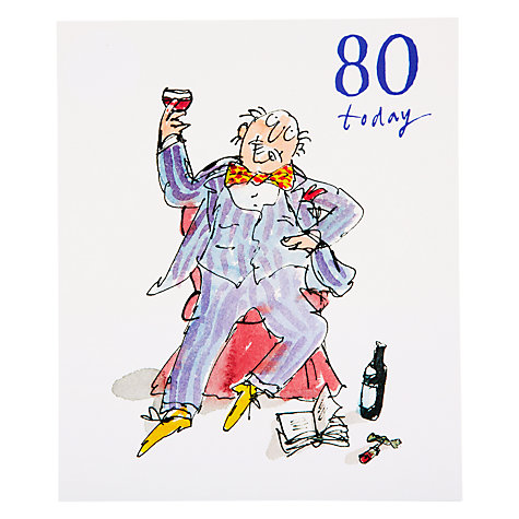 Buy Woodmansterne Soaking feet 80th Birthday Card Online at johnlewis.com