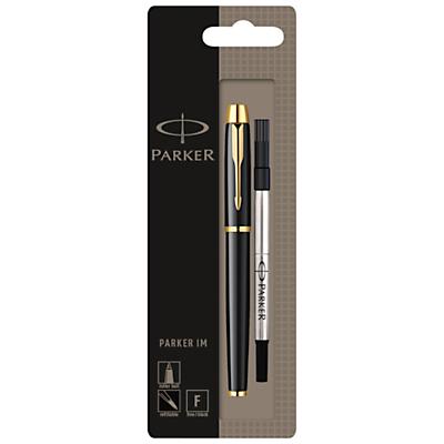 Parker IM Gilt Rollerball Pen, Black