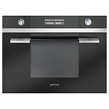 Buy Smeg SC45MCNE2 Built-in Compact Combination Microwave, Black Online at johnlewis.com