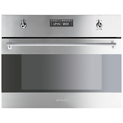 Buy Smeg S45MCX2 Built-in Compact Combination Microwave, Stainless Steel Online at johnlewis.com