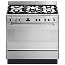 Buy Smeg SUK91MFX7 Dual Fuel Range Cooker, Stainless Steel Online at johnlewis.com