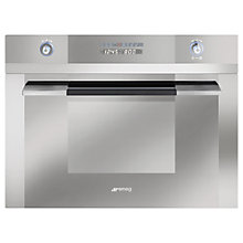 Buy Smeg SC45MC2 Built-in Compact Combination Microwave, Stainless Steel Online at johnlewis.com