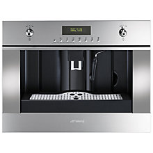Buy Smeg CMS45X Classic Built In Coffee Machine, Stainless Steel Online at johnlewis.com