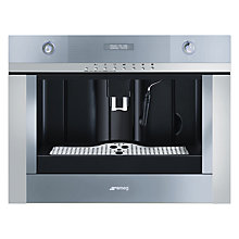 Buy Smeg CMSC45 Linea Built In Coffee Machine Online at johnlewis.com