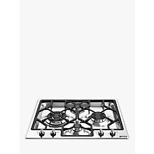 Buy Smeg PGF64-4 Gas Hob, Stainless Steel Online at johnlewis.com
