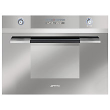 Buy Smeg SC45MCSG2 Built-in Compact Combination Microwave, Silver Glass Online at johnlewis.com