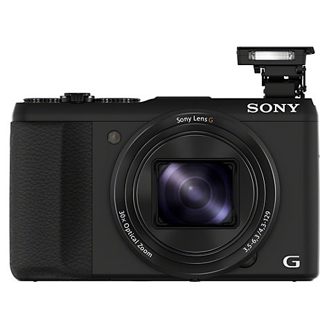 "Buy Sony Cyber-shot DSC HX50 Camera, HD 1080p, 20.4MP, 30x Optical Zoom, Wi-Fi, 3"" LCD Screen with 8GB Card, Black Online at johnlewis.com"