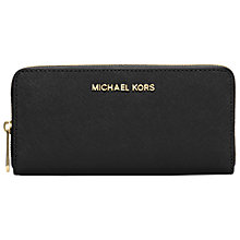 Buy MICHAEL Michael Kors Jet Set Travel Leather Continental Purse Online at johnlewis.com