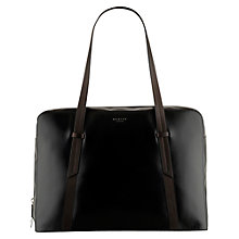 Buy Radley Malton Leather Large Zip Tote Handbag, Black Online at johnlewis.com