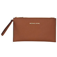 Buy MICHAEL Michael Kors Jet Set Travel Zip Top Leather Continental Purse Online at johnlewis.com