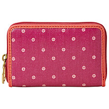 Buy Fossil Key-Per Small Zip Purse Online at johnlewis.com