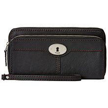Buy Fossil Marlow Double Zip Clutch Purse, Black Online at johnlewis.com