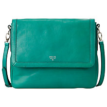 Buy Fossil Sydney Flapover Shoulder Handbag, Teal Online at johnlewis.com