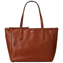 Buy Fossil Sydney Leather Shopper Handbag Online at johnlewis.com