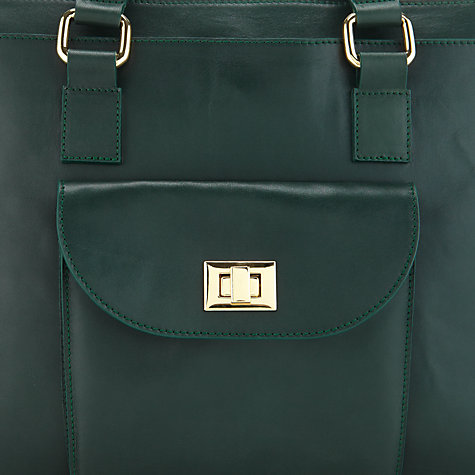 Buy Somerset by Alice Temperley Clover Satchel Handbag, Green Online at johnlewis.com