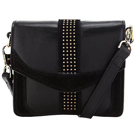 Buy Somerset by Alice Temperley Clover Mini Stud Cross Body Handbag, Black Online at johnlewis.com