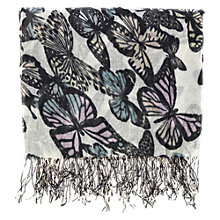 Buy Warehouse Butterfly Scarf, Neutral Online at johnlewis.com