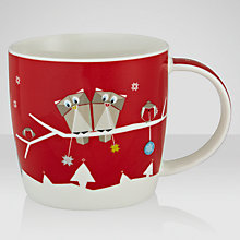 Buy John Lewis Woodland Owl Christmas Mug in a Tin Online at johnlewis.com