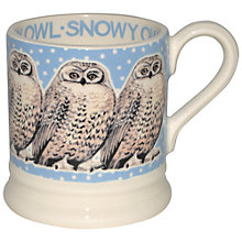 Buy Emma Bridgewater Snowstorm Owl Half Pint Mug Online at johnlewis.com
