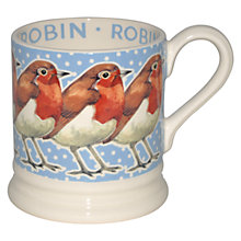 Buy Emma Bridgewater Snowstorm Robin Half Pint Mug Online at johnlewis.com