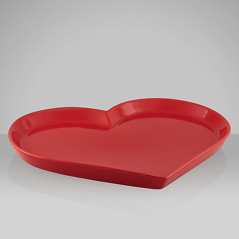 Buy House by John Lewis Woodland Wonder Heart Plate Online at johnlewis.com