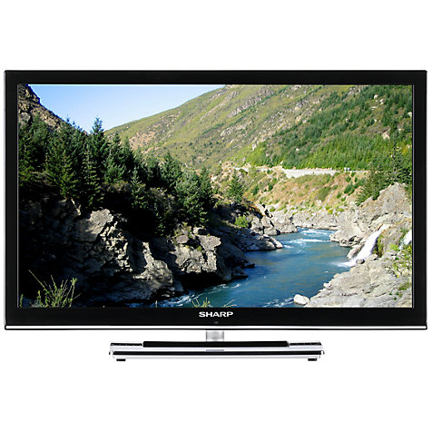 "Buy Sharp LC24LE250K HD 720p LCD TV, 24"" with Freeview, Black Online at johnlewis.com"