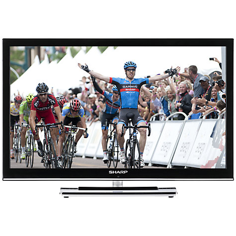 "Buy Sharp LC24DV250K LED HD 720p TV/DVD Combi, 24"" with Built-in Freeview Online at johnlewis.com"