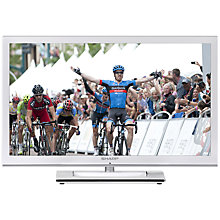 "Buy Sharp LC24LE250K HD 720p LCD TV, 24"" with Freeview, White Online at johnlewis.com"