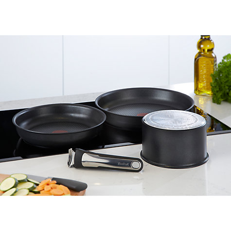 Buy Tefal Ingenio Induction Frying Pan and Saucepan Set, 4 Piece Online at johnlewis.com