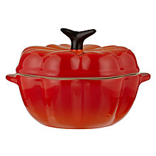 Buy Le Creuset Petite Pumpkin Casserole, Volcanic Orange Online at johnlewis.com