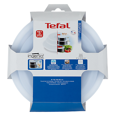 Tefal Ingenio Plastic Lid Set, Pack of 3