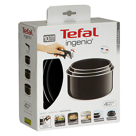 Buy Tefal Ingenio Enamel Saucepan Set, 4 Piece Online at johnlewis.com