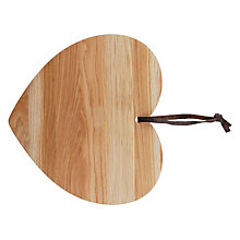 Buy John Lewis Heart Wooden Chopping Board Online at johnlewis.com