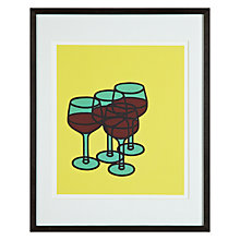 Buy Tate, Patrick Caulfield - Wine Glasses Framed Print, 50 x 40cm Online at johnlewis.com