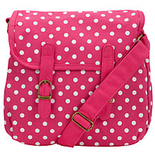 Buy John Lewis Girl Spot Satchel, Pink Online at johnlewis.com